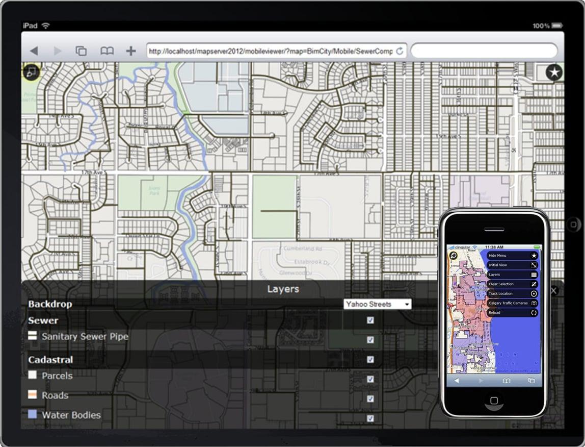 Infrastructure Map Server | Mapas de GIS | Autodesk