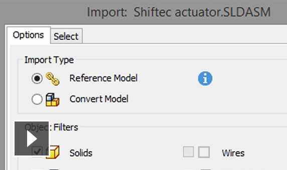Video: If there's a change to the non-native file, Inventor automatically updates your design