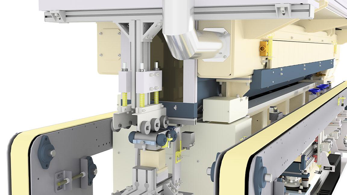 Detail einer Maschinenkonstruktion aus der Automobilindustrie, die mit Inventor erstellt wurde