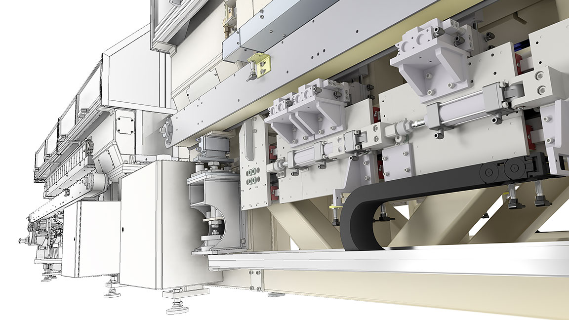 Different view of Hewland transmission design combining 2D drawing and 3D model