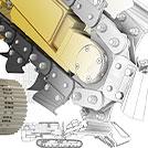 包含一些二维细节和三维细节的挖沟机设计