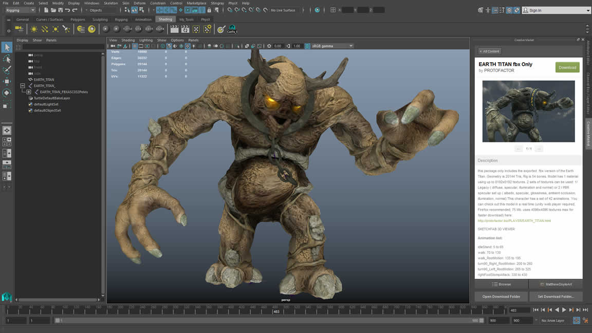 Search, browse and buy 3D content directly from Maya LT