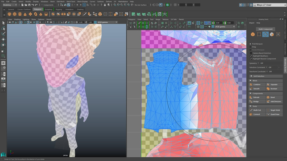 Maya LT: 3D indie game modelling software
