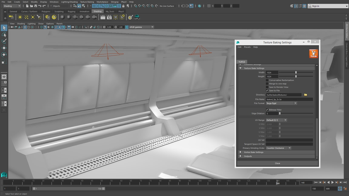 Maya LT now supports physically based area lights