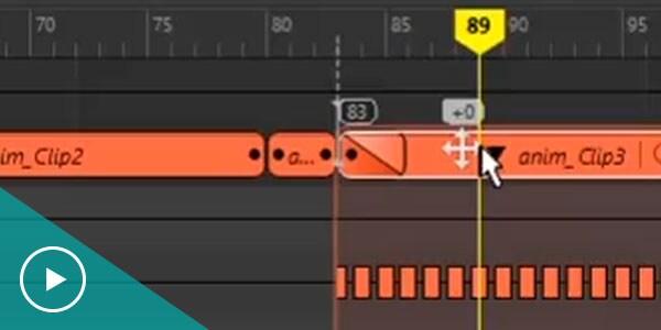 Animation Time Editor in Maya