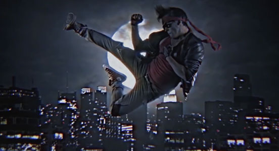 Fido käyttää Mayaa Kung Fury -elokuvassa