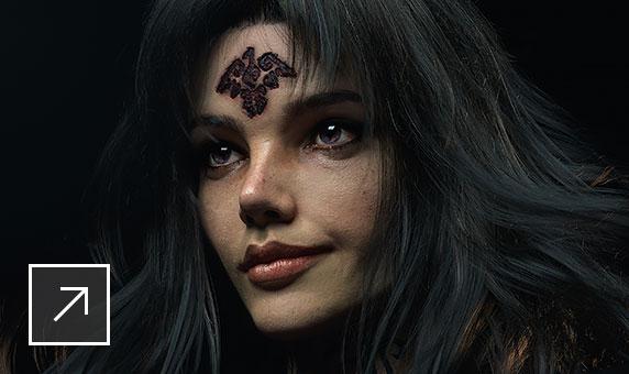 Mise en forme de cheveux dans Maya