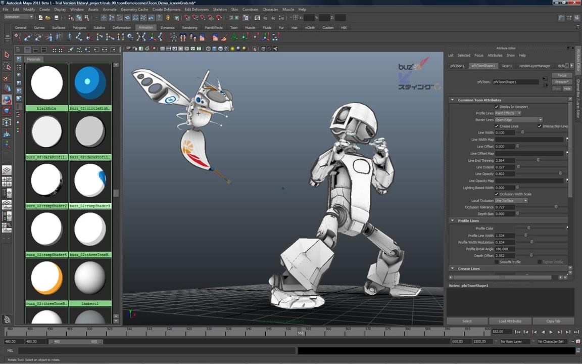 Create cartoon animations