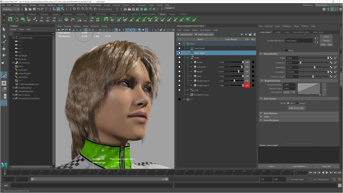 Intuitive brush-based tools provide greater control and accuracy for styling and posing hair and fur