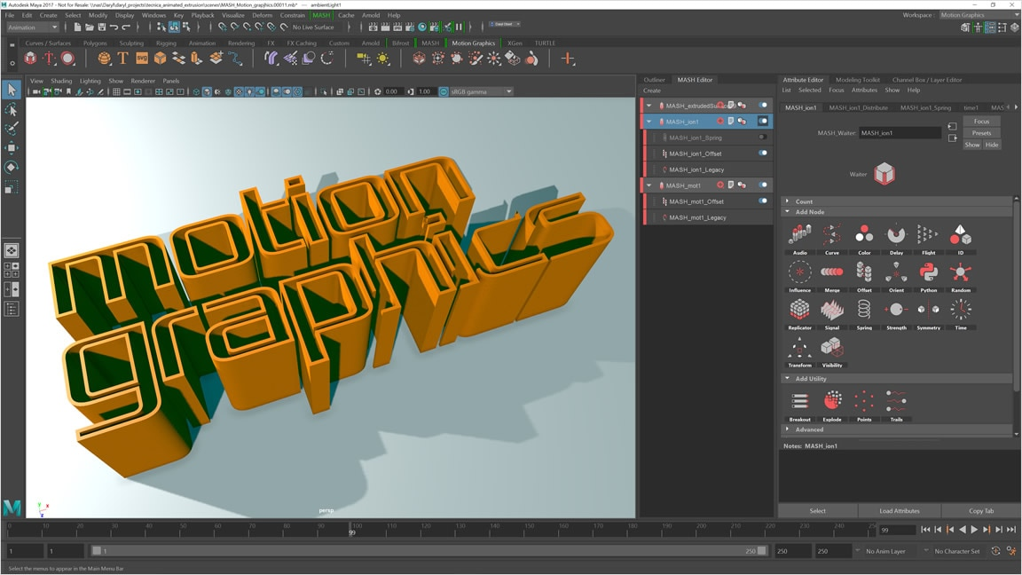 Motion graphics toolset maya features for Autodesk maya templates