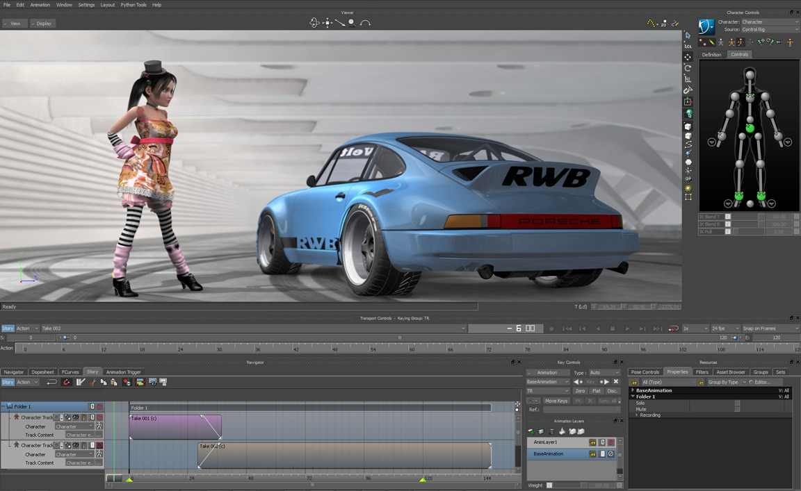 autodesk motionbuilder animation tools elearning