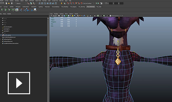 Send characters from Maya LT to Mudbox for sculpting and texturing
