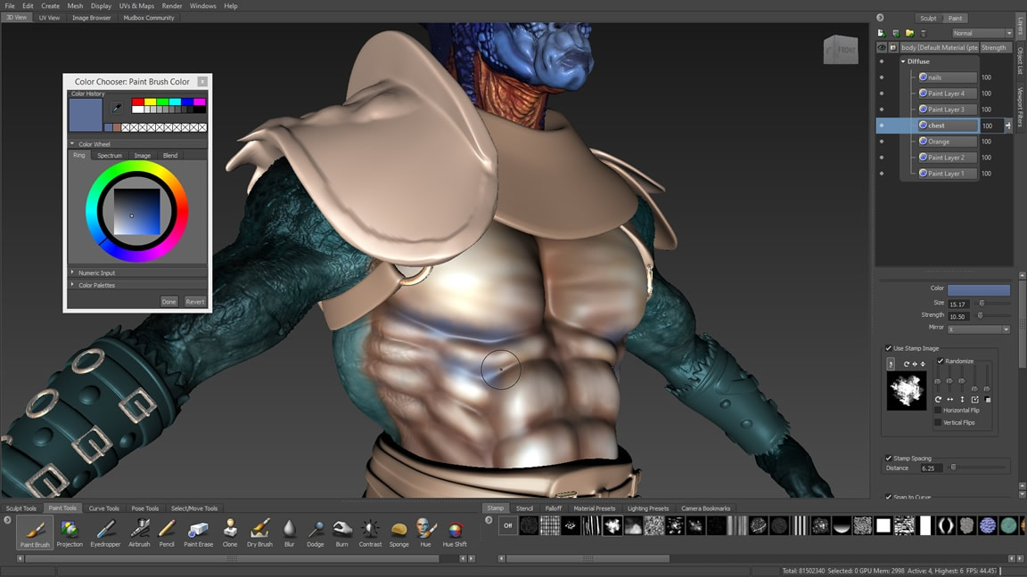 Mudbox 3d digital painting and sculpting software autodesk for Free 3d drawing software online