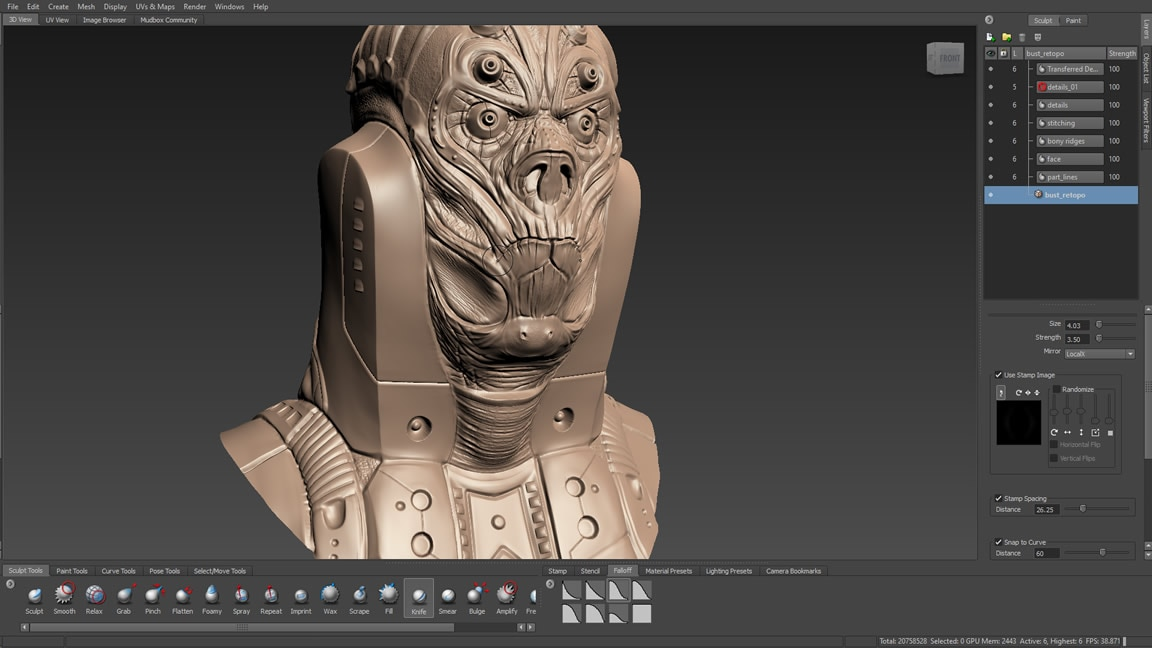 Mudbox 3d Digital Painting Sculpting Software Autodesk