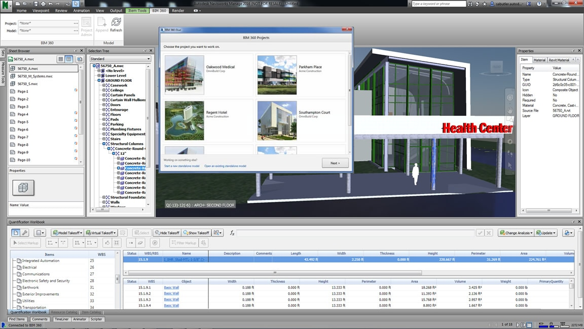 navisworks software de an225lise de projetos autodesk