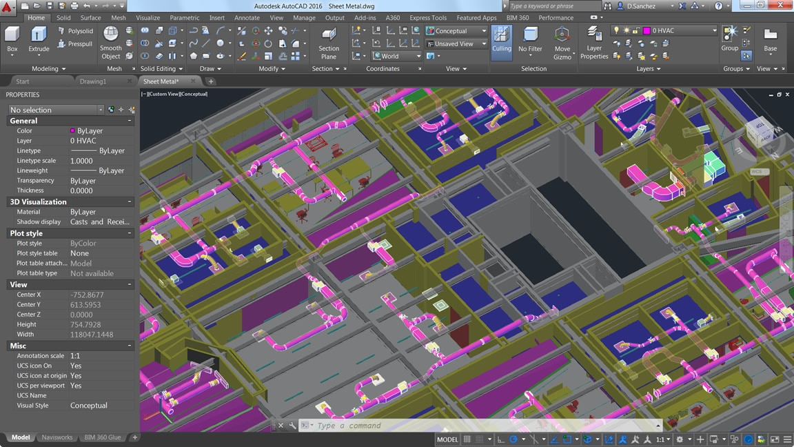 Use BIM coordination features in AutoCAD to model in context