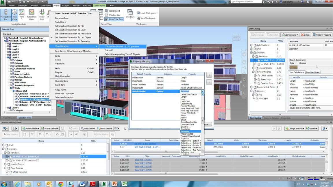 Utilize quantificação 3D para garantir uma visualização mais eficiente do modelo