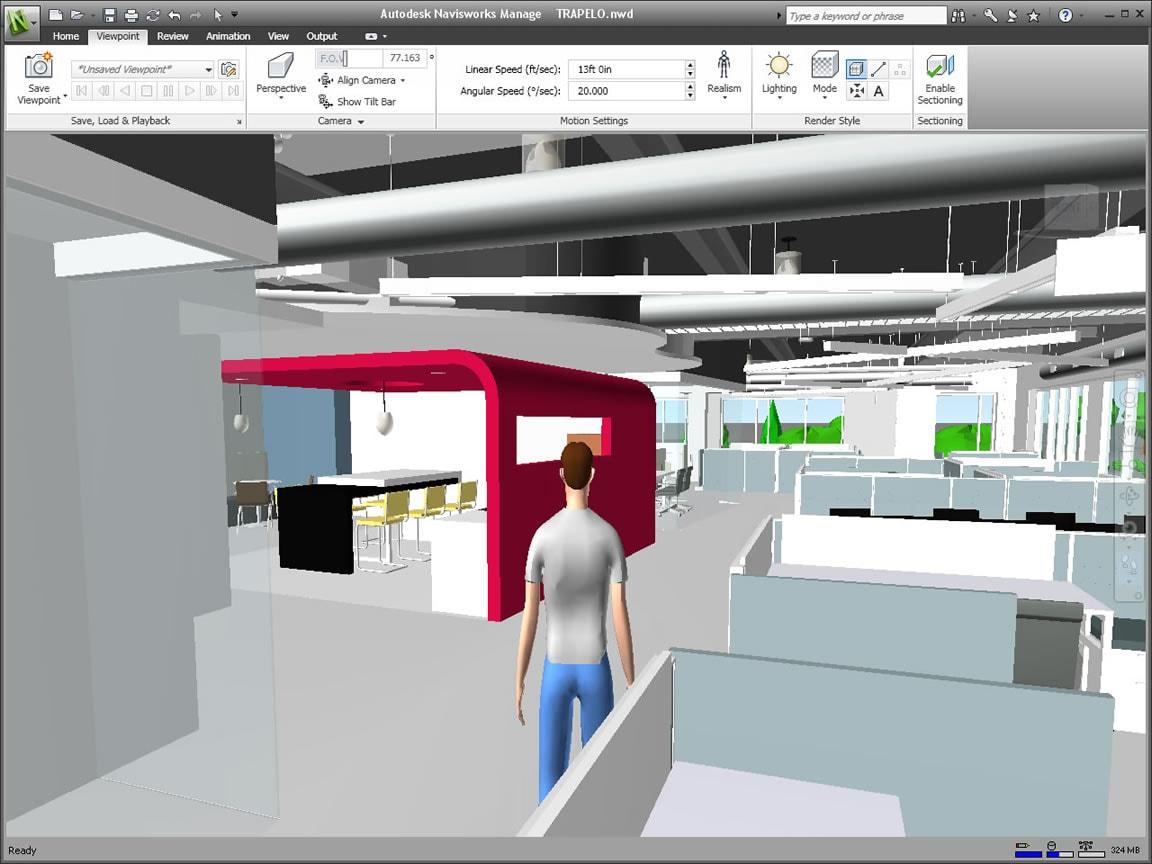 Navegação em tempo real para modelos de projeto integrados
