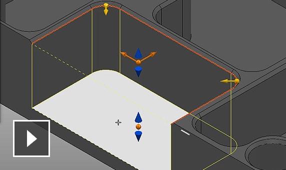 Film: Tworzenie nowych elementów bocznych przy użyciu modelu krawędziowego lub wybierania powierzchni