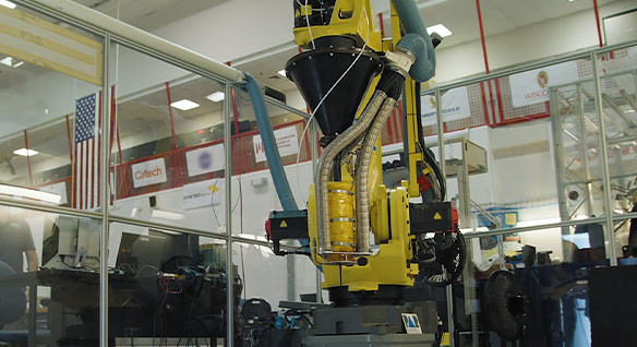 Video: NASA engineers are experimenting with industrial robots to 3D-print habitats on Earth, the moon and Mars