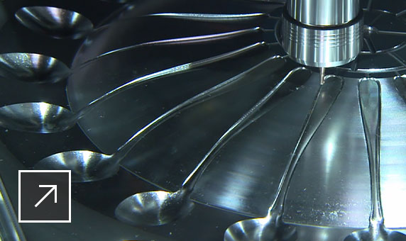 PowerMill 3-axis machining being used to manufacture an injection mold tool for mass producing plastic spoons