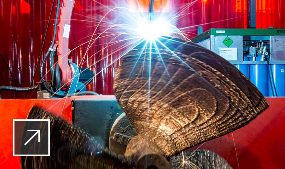 PowerMill high-rate additive manufacturing being used to produce a large propeller for the marine industry