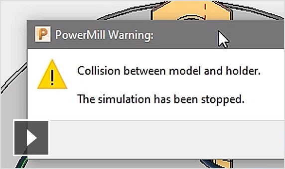 Video: 4-axis and rotary toolpaths can now be processed with constrained automatic collision avoidance for added safety