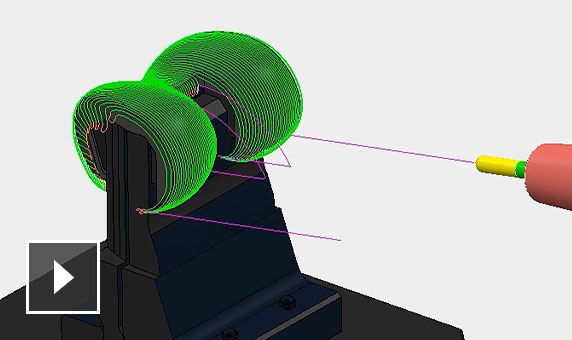 Video: Projection ranges help control the extents of projection toolpaths and can stop them from over or under machining parts