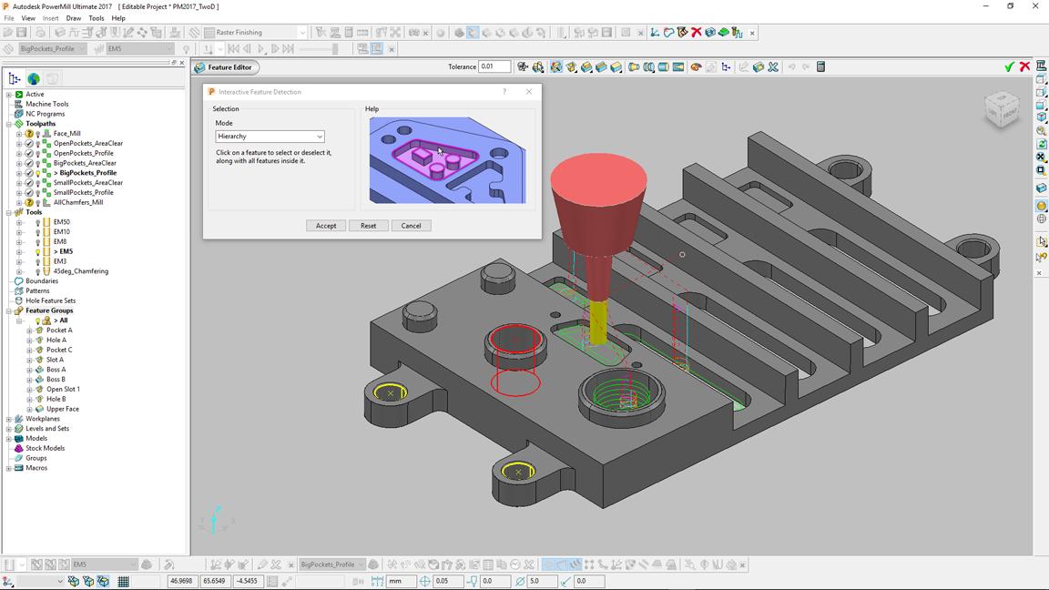 2-1/2-Achsen-Bearbeitung komplexer Werkstücke