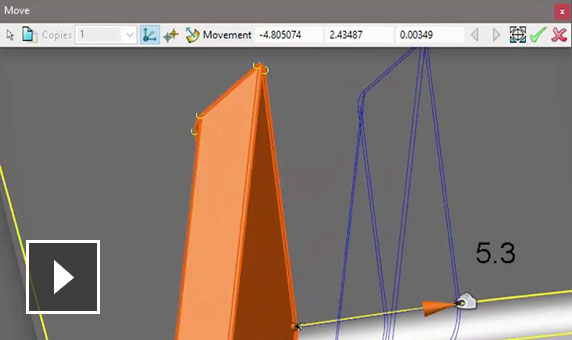 Video: Make complex edits to imported solid models even if the data is faulty