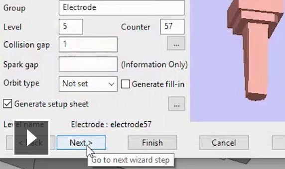 Video: Use the electrode wizard to automate the design of electrodes for EDM