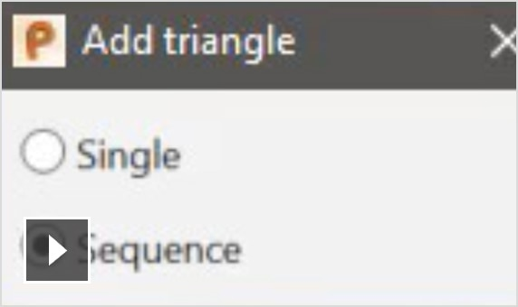 Video: Interactively add triangles to STL meshes to close complex holes; add triangles singularly or in an efficient sequence