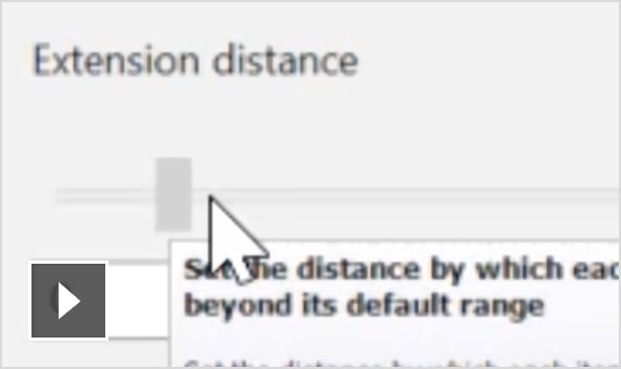 Video: Use the dynamic slider or enter user-defined distances to extend multiple primitive surfaces with a single command