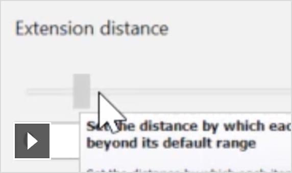 Film: Rozszerzanie wielu prymitywów powierzchniowych jednym poleceniem za pomocą dynamicznego suwaka lub poprzez ręczne wprowadzanie odległości zdefiniowanych przez użytkownika