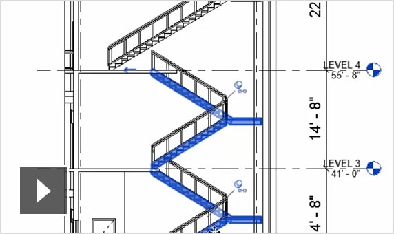 Video: Multi-story stairs in Revit