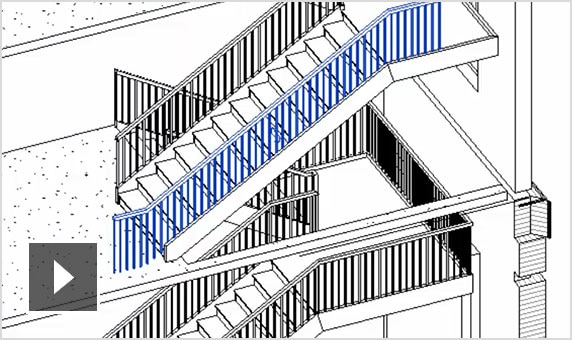 Video: Enhanced railings with Revit