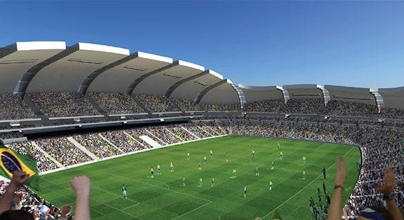 Rendering dell'Arena das Dunas in Brasile