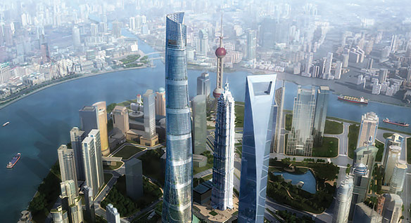 Shanghai Tower ontworpen door Gensler