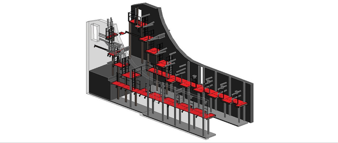 Revit image of maintenance platforms