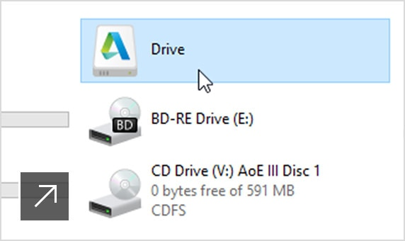Autodesk Drive individual design data storage