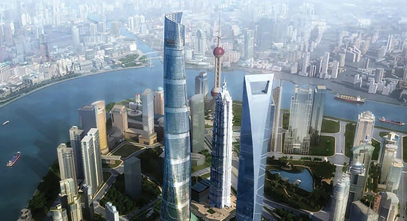 Shanghai Tower designed by Gensler