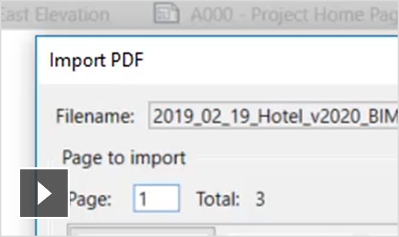 Video: PDF as an underlay in Revit 2020