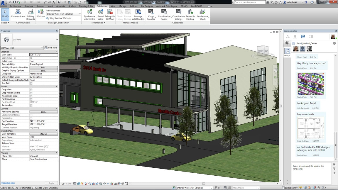 Project teams can work with BIM project data in the cloud