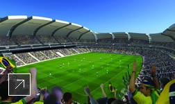 Image of Buro Happold building the FIFA World Cup 2014 stadium with the help of Revit and Robot Structural Analysis software