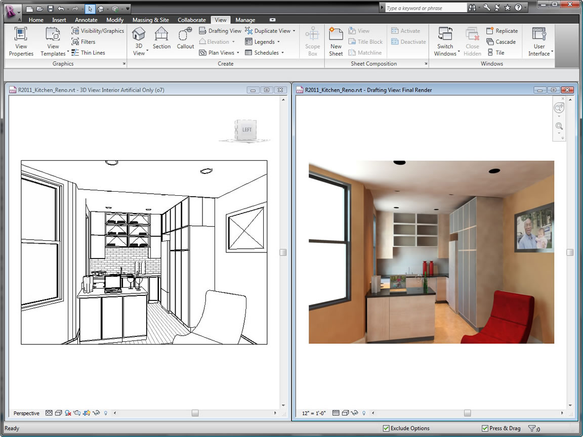 Building design construction revit family autodesk Interior design rendering software free
