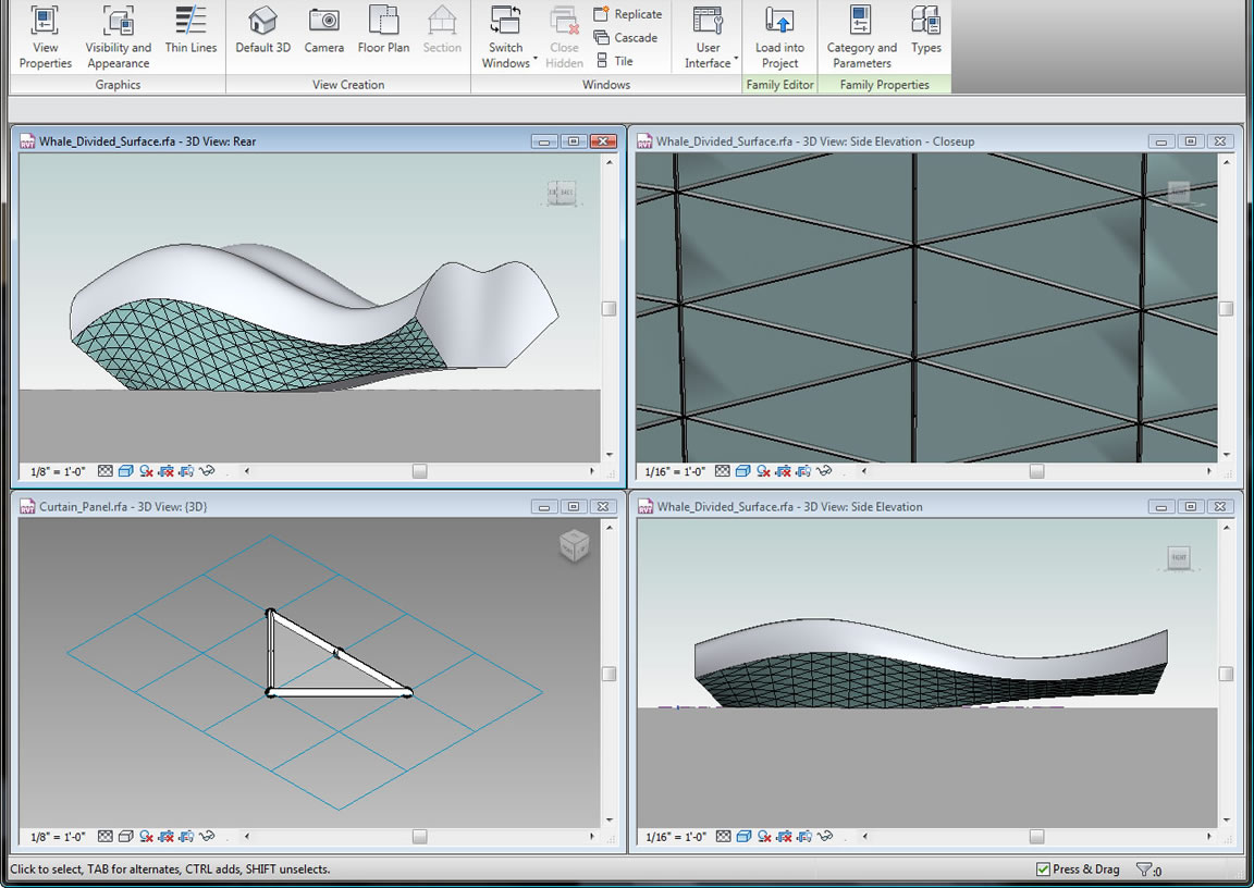 Use conceptual design tools to create free-form models