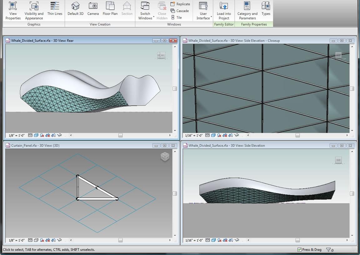 Erstellen Sie Freiformmodelle mit Entwurfsplanungswerkzeugen.