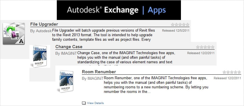Add-ins applications on Autodesk Exchange extend Revit functionality