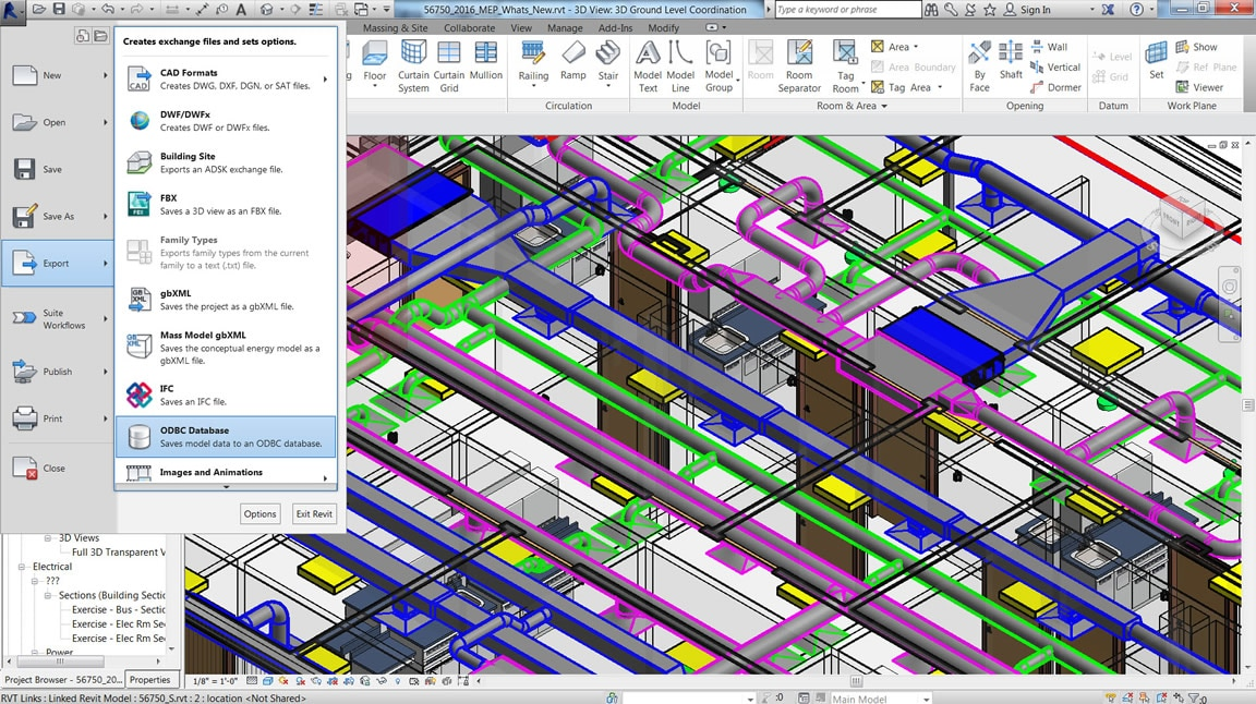 Output Revit model data to external ODBC-compliant databases