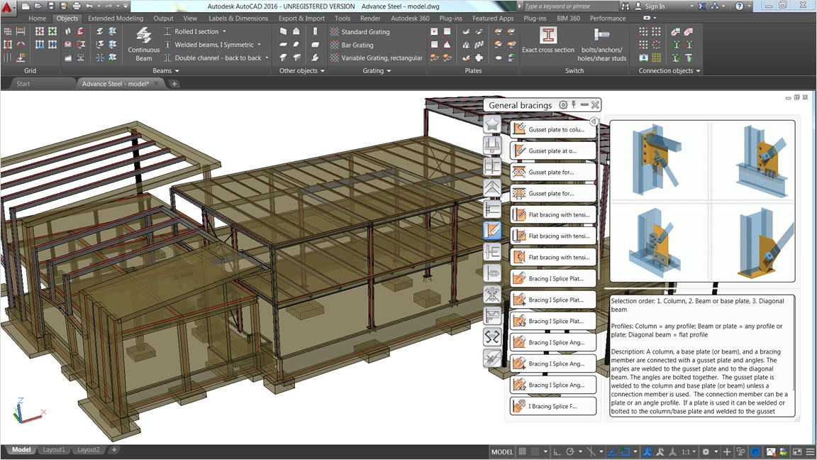 Generate fabrication documents using interoperability between Revit and Advance Steel